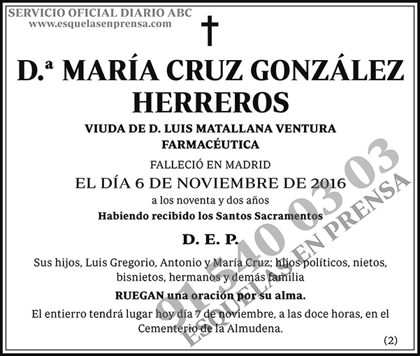 María Cruz González Herreros